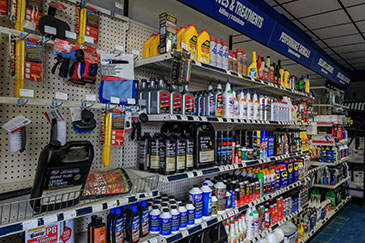 Well Stocked Shelves of Auto Products